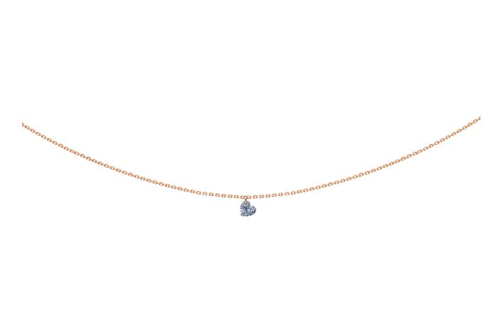 Collier 360, diamant coeur, LA BRUNE ET LA BLONE, or rose
