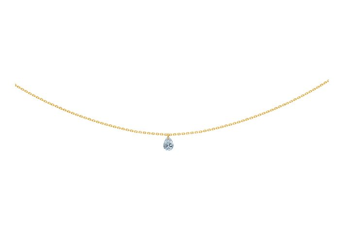 Collier 360, diamant poire, LA BRUNE & LA BLONE, or jaune
