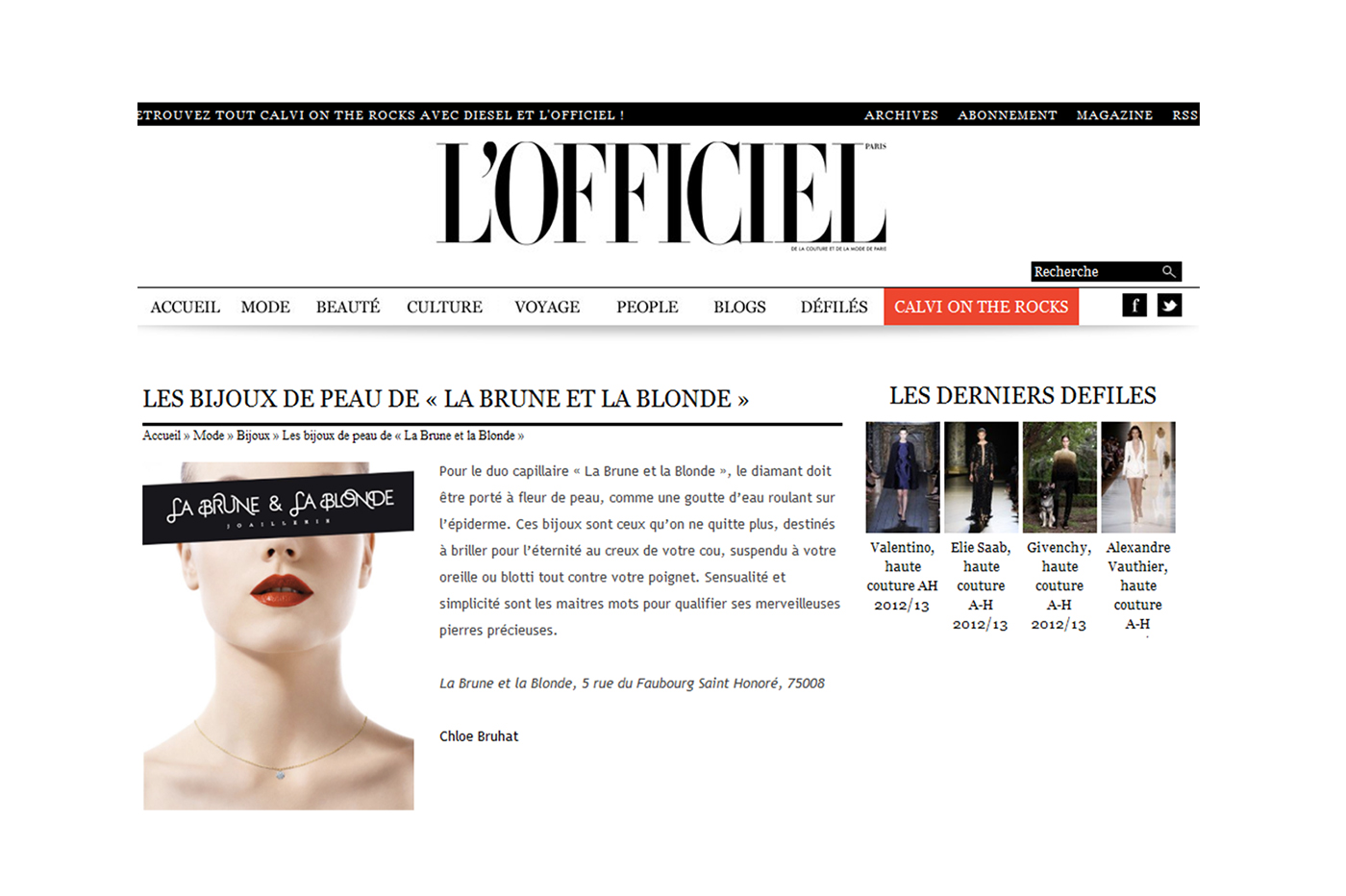 DIRECTLY ON YOUR SKIN – L'OFFICIEL