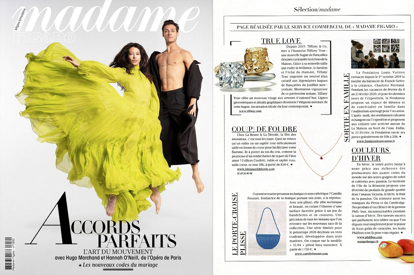 Madame Figaro X Confetti Necklace, heart ruby and pink sapphire