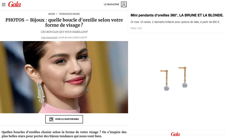 Mini Pendant Earrings X Gala.fr