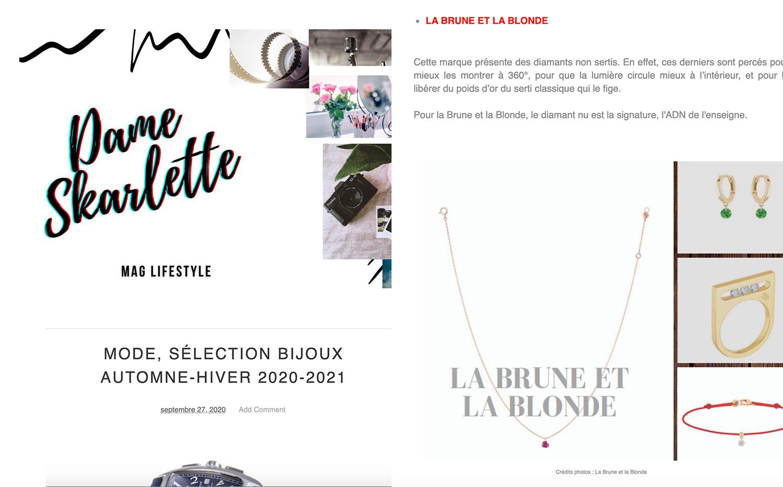 LA BRUNE & LA BLONDE X DAME SKARLETTE
