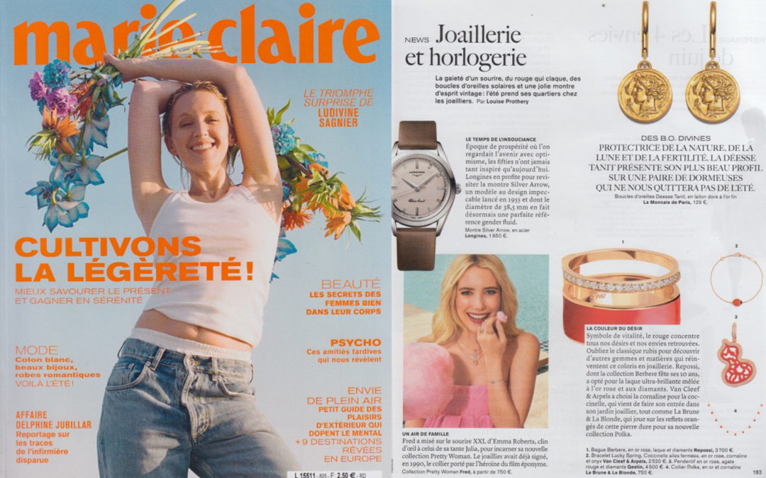 COLLIER POLKA CORNALINE X MARIE CLAIRE