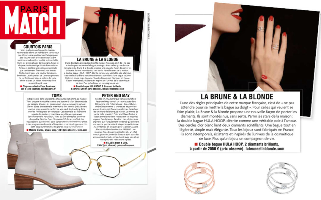 HULA HOOP DOUBLE RING X PARIS MATCH